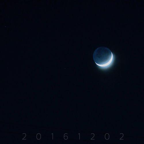 月 Moon お月様 月_e_miray お月さん 地球照 Earthshine