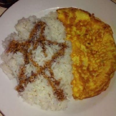 Maksa… Day20 Somethingyoudrew 30dayphotochallenge Photoadayapril star gold sweet soysauce egg simple homey dinner