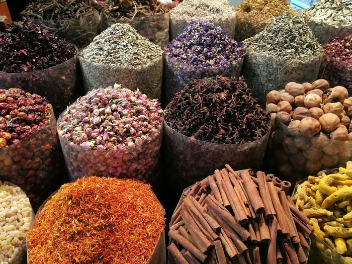 Various spices for sale at shop