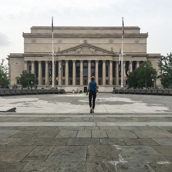 Turns out I was the only person in DC on July 5th Washington, D. C. Washington City Architecture Columns Empty Places The Great Outdoors - 2015 EyeEm Awards Architecture_collection Lonely Washington DC