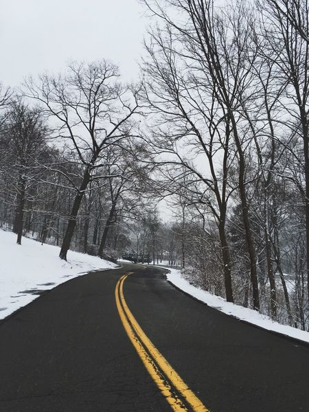 Snowy Walk Snow Winter Road Pittsburgh Empty
