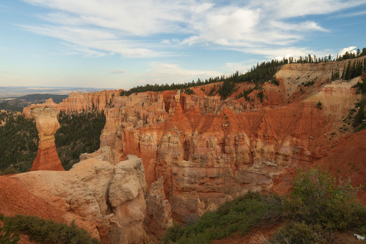 Bryce Canyon at sunset Nature No People Travel Destinations Rock Beauty In Nature Bryce Canyon Utah Sunset Scenics - Nature Non-urban Scene Tranquil Scene Cloud - Sky Tranquility Landscape Travel Environment Rock Formation Tourism Rock - Object Tree Solid Physical Geography Eroded Formation Arid Climate