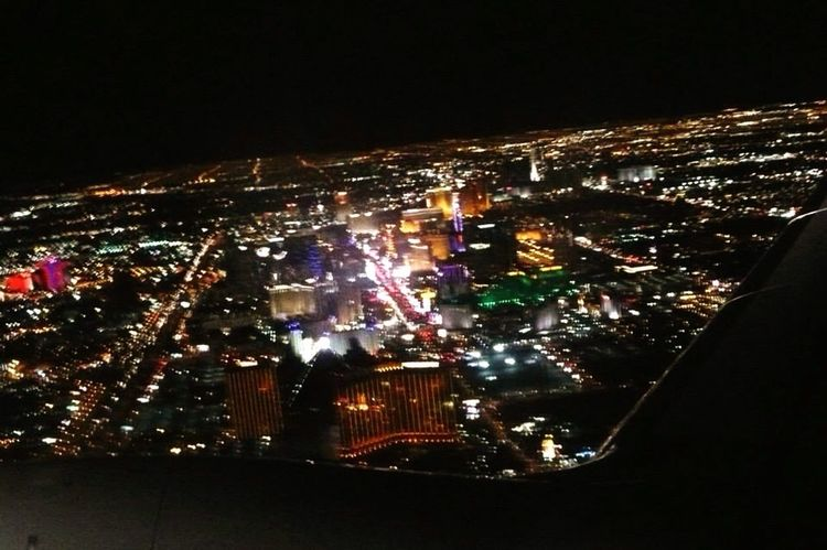 Flying High Las Vegas Airplane Traveling Vacations Pretty City Pretty Lights Plane Window