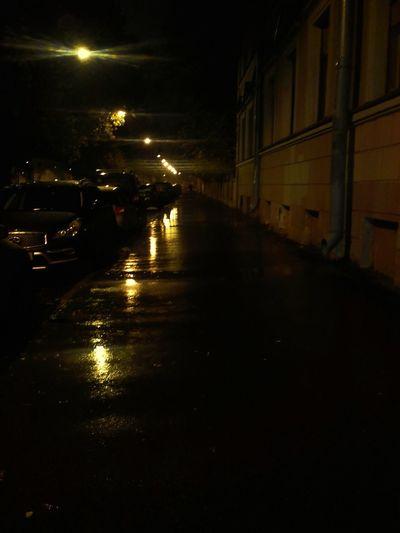 Night No People Illuminated Water City Outdoors Saint Petersburg Fall Beauty Griboedov Channel Asphalt Asphalt Pavement Asphalt Street City Life Rain Rainy Days Street