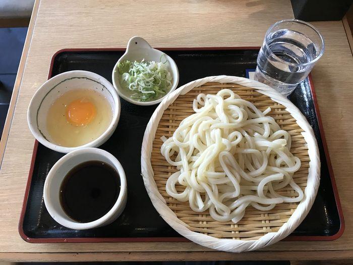 もりうどん+ロイヤル玉子
