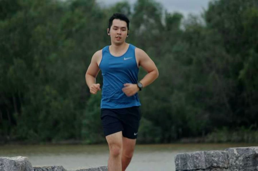 exercise Only Men One Man Only Adults Only Sports Clothing Adult Jogging Sport Exercising Healthy Lifestyle Men Running Outdoors Lifestyles One Person Sports Training Tank Top People Sportsman Day Athlete Exercise Time Run Running