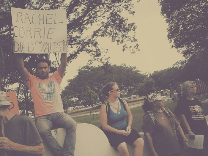 ..::..Free Palestine..::.. Hawaii Israel <3 Israel Rachelcorrie