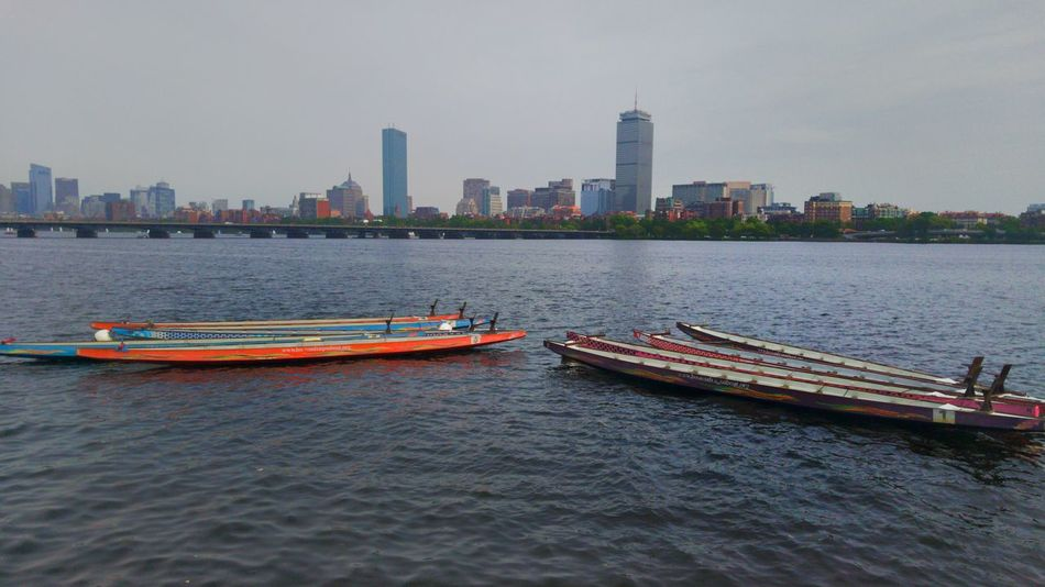 Canoes Cityscapes Prudential Tower Cloudy Day Summertime Walking Around Charles River