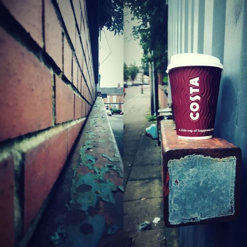 This Is Perspective day 23. Looking Up Looking Down Little Cup Of Happiness? Costa Coffee Found Found Object My Streets Perspective