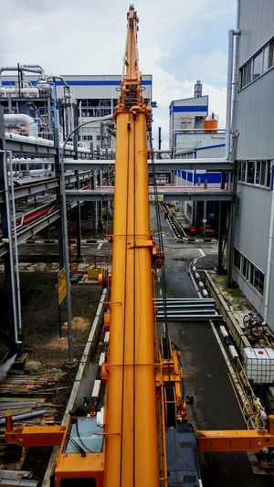 I like how they choose not to stop expanding. But deep inside me, I know these gonna kill my lively life once they done. Please, give me a raise Crane Lift Hoist EyeEmMalaysia Construction Industry The Color Of Business