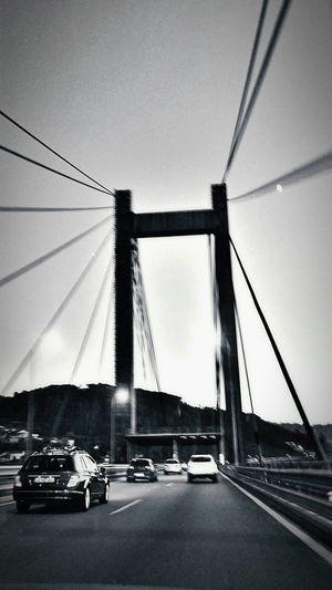 Moonrise at Puente de Rande🌉🌉🌛Urban Geometry for the Bnw_friday_eyeemchallenge Bridge Geometric Shapes Architecture Blackandwhite Monochrome Streetphotography Malephotographerofthemonth EyeEm Best Edits