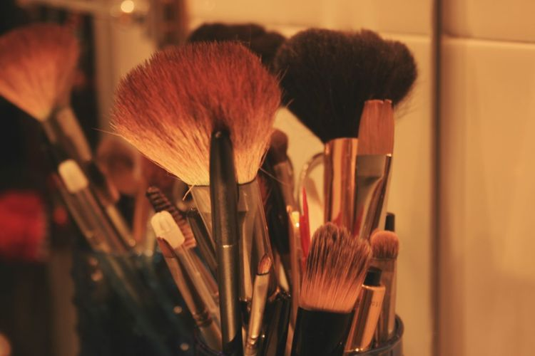 Close-Up Of Make-Up Brushes