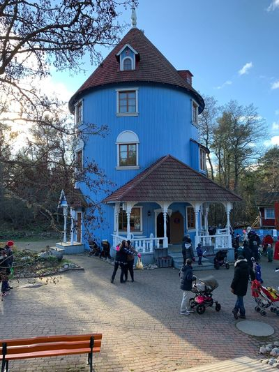 Moomin world Moomin World Moomin House Built Structure Building Exterior Architecture Group Of People Real People Tree Building People Crowd Outdoors Day