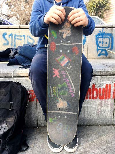 Skateboarding One Person Outdoors Skater Skateboard Skatelife Child Drawing ❤️ Art Is Everywhere