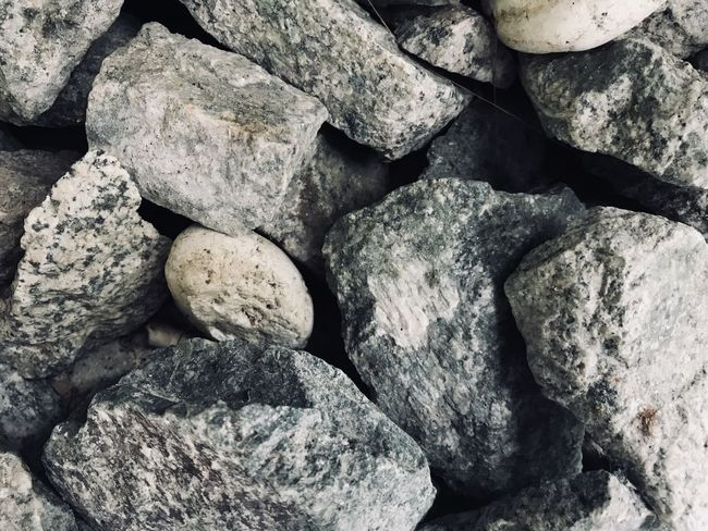 Backgrounds Close-up Day Full Frame Granite Grey Color Nature No People Outdoors Pebble Beach Rock - Object Stack Textured