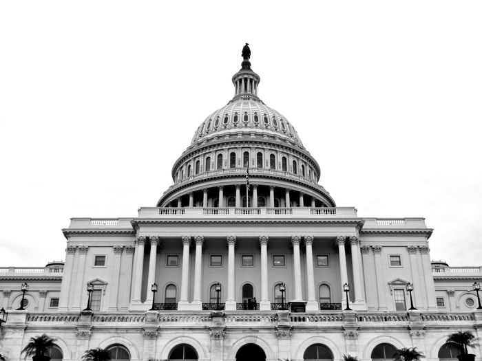 US Capitol in B&W, Washington DC Close-up Washington, D. C. Capitol Building Blackandwhite Black & White Symmetry Symmetrical Dome Architecture Building Exterior Government Travel Destinations Politics Built Structure No People Outdoors Politics And Government Sky EyeEmNewHere The Graphic City
