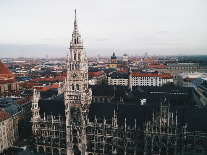 High angle view of munich
