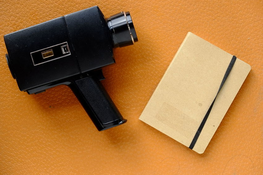 Backgrounds Camera Camera - Photographic Equipment Cinecamera Cinema Close-up Conceptual Conceptual Photography  Copy Space Film MOVIE Movie Camera No People Old Old Technology Old-fashioned Orange Color Retro Retro Styled Super 8 Super8 Video Camera Vintage Vintage Camera Vintage Style