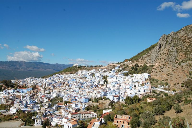 High Angle View Of Chefchaouen