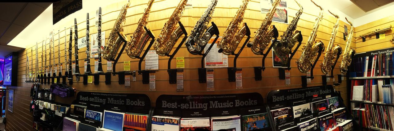 🎷 Saxophones Galore Indoors  In A Row Large Group Of Objects Arrangement Retail  Merchandise Golden Musical Instruments Musical Instrument Music Music Is My Life Music Brings Us Together Musical Equipment Music Shop woodwind Woodwind Instrument Woodwinds taken at work our display of woodwind instruments 🎷🎷🎼🎶
