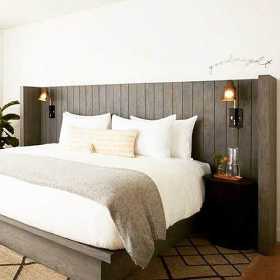 I might be slightly obsessed with @thelandsby Decor Bedroomgoals Interior Design Decorating Whitewalls  Headboard Lighting Bed Linens Scandinavian Danish Styling Solvang California Boutique Hotel