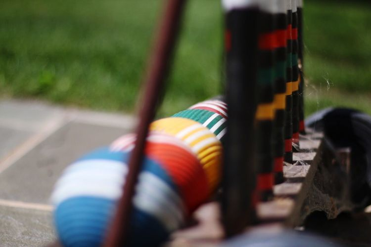 Colorful Ball Croquet Bokeh
