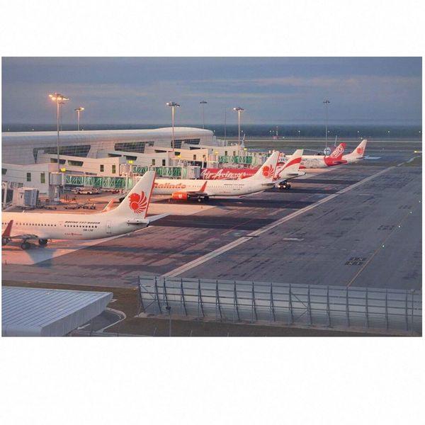 aircraft are reading to board and take off at Kuala Lumpur International Airport 2 Malaysia In The Terminal Waiting Boarding Aircraft Aviation Avionics Flight ✈ Airasia