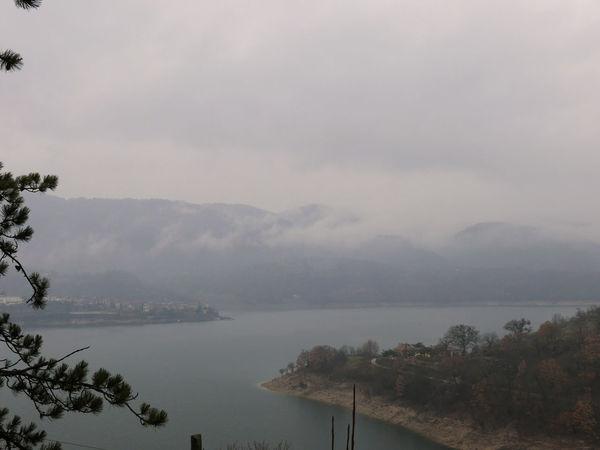Background Fog Foggy Grey Lago Del Turano Lake Melancholy Scenics Tranquil Scene Tranquility