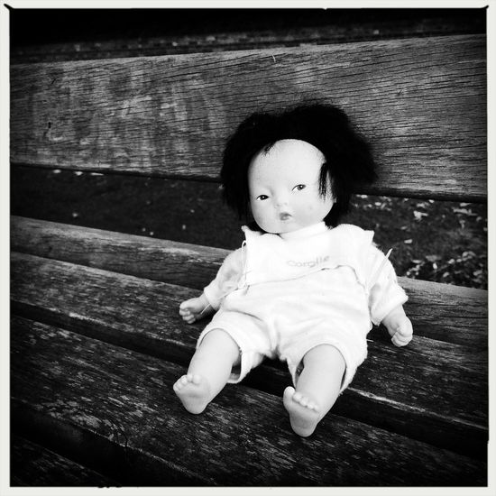 Voodoo Doll Mono Photo Dog Walking