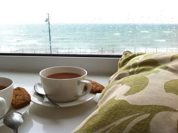Having tea, while high tide is coming Hanging Out B&Bs Grand Adventure