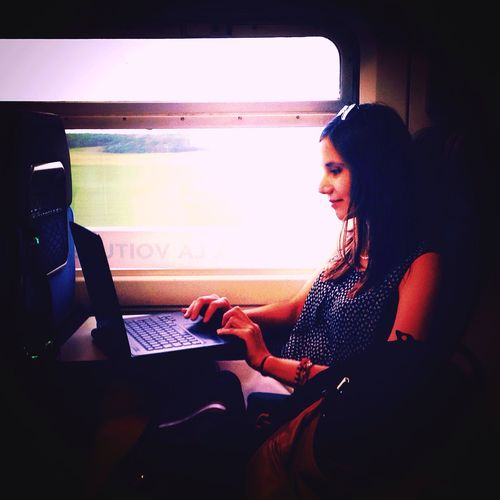 Train Working Girl Business Work In Progress Focused Concentration Working Time WomeninBusiness
