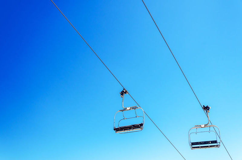 Looking up at a chairlift with a beautiful deep blue sky Cable Cascade Chairlift Forest Hills Landmark Landscape Lift Magic Mount Hood Mountain MtHood Nature Northwest Oregon Outdoors Pacific Range Rocks Skilift Summer Timberline Trees View Wilderness