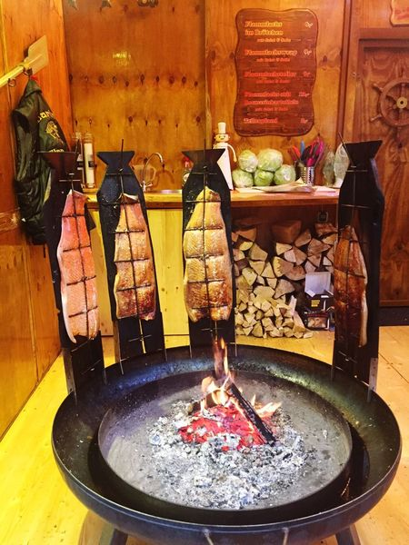 Christmastime Fish Burning Flame Food Indoors  No People Heat - Temperature Food And Drink