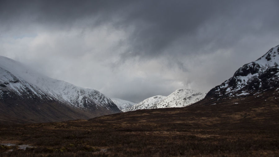 Glen Coe - Scottish Highlands Glen Coe Nature Scotland Sign Winter Cabin Canon Canon EOS 750D Clouds Fog Highlands Landscape Moss Mountain Range Mountains Scenics Scottish Highlands Snow Valley Water Wide Angle