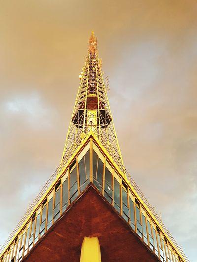 Golden tower Gold Colored Golden Sky Travel Brazil Sky Torre De Tv