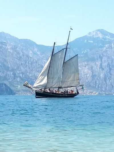 Lake Gardalake Gardasee Gardasee,Italien Garda Lake Italy The Great Outdoors - 2015 EyeEm Awards Great Outdoors Malcesine Lago Di Garda Lagodigarda Lake Life Sail Away, Sail Away EyeEm Italy Boat Water Vehicle Ship Sailing Boat