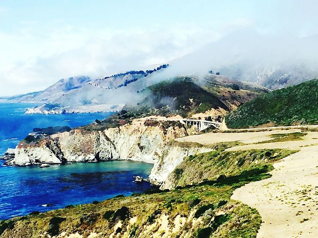 Mountain Outdoors Landscape No People Sea Nature Beach Water Day Beauty In Nature Scenics Tree Grass Sky Big Sur CALIFORNIA Big Sur CA🇺🇸 Big Sur Life Been There.