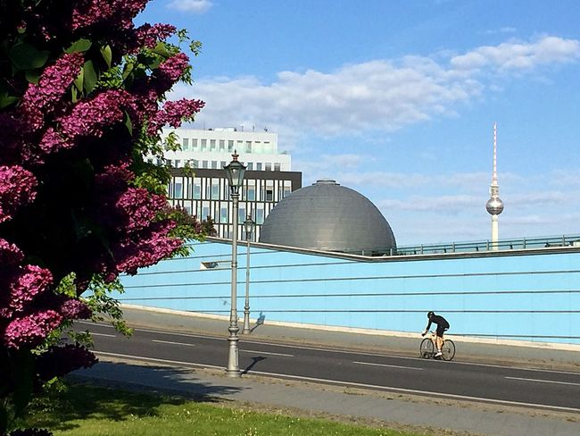 Architecture Sky Built Structure Building Exterior Day Outdoors City Transportation Bike Bicycle Berliner Ansichten City Berlin Streetshot Streetphotography Lilac Sunny Travel Destinations