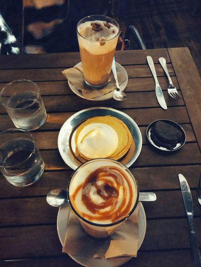 Delicious date! Drink Coffee - Drink Food And Drink Cappuccino Table Refreshment Indoors  Drinking Glass No People Food Close-up Latte Ready-to-eat Coffee Date Sweet Frothy Drink Froth Art Lemon Pie Buenos Aires EyeEmNewHere