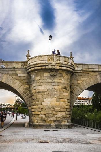 View of arch bridge