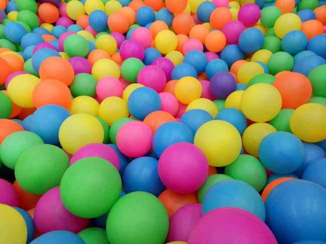 Multi Colored Large Group Of Objects Variation Stack Backgrounds Indoors  No People Day Close-up Balls Playground Kids