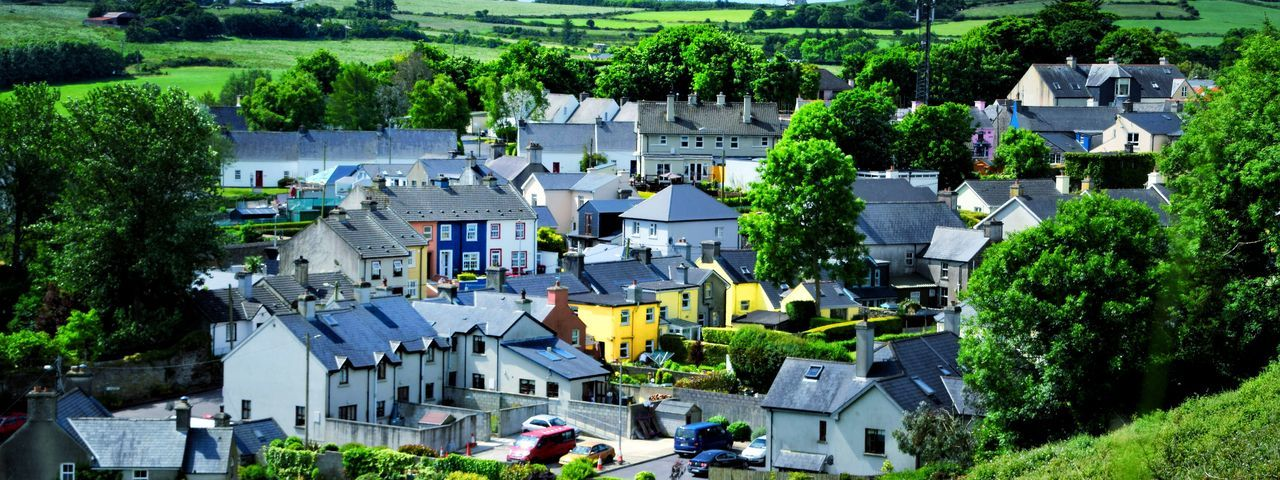 Yellow in West Carbery Ireland Building Exterior Architecture Built Structure Plant Tree Building High Angle View Town Day