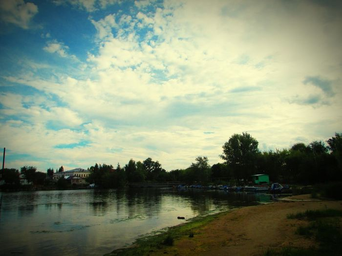 наедине с природой Beauty In Nature небо нежность облака Beautiful Nature Природа Russia красота Beautiful Water Nature No People Beauty прекрасный вечер Волга River Россия