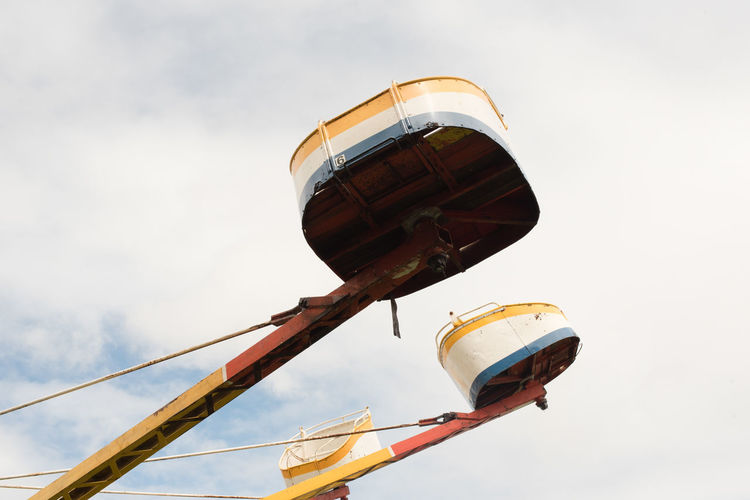 Detail from amusement ride Amusement Park Ride Cropped Day Leisure Activity Low Angle View No People Outdoors Sky