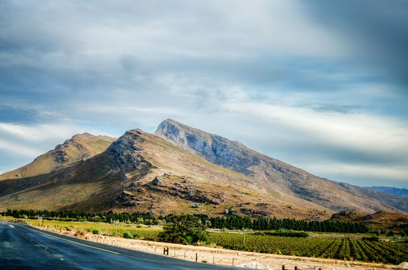 Mountains around Worcester, Western Cape, South Africa Beauty In Nature Cloud - Sky Day Landscape Mountain Mountain Range Mountain Road Nature No People Outdoors Road Scenics Sky The Way Forward Tranquil Scene Tranquility Transportation Winding Road
