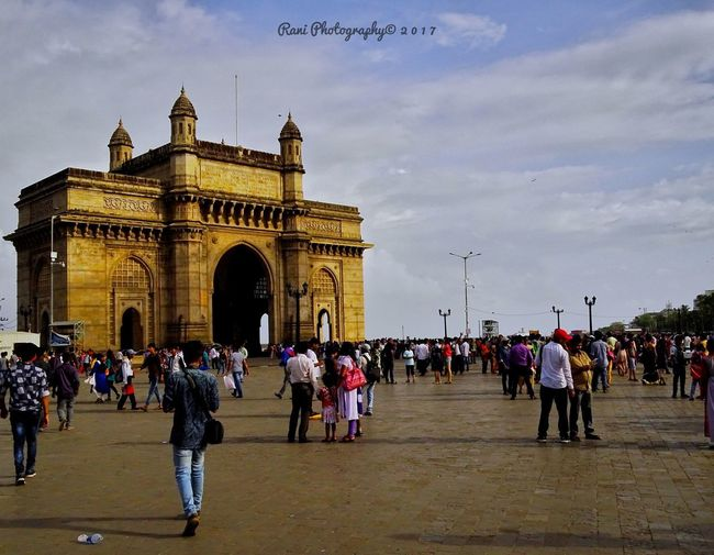 Large Group Of People Architecture Built Structure Travel Destinations History Sky People Triumphal Arch Outdoors Building Exterior Day MumbaiDiaries Mumbai City Architecture EyeEmNewHere