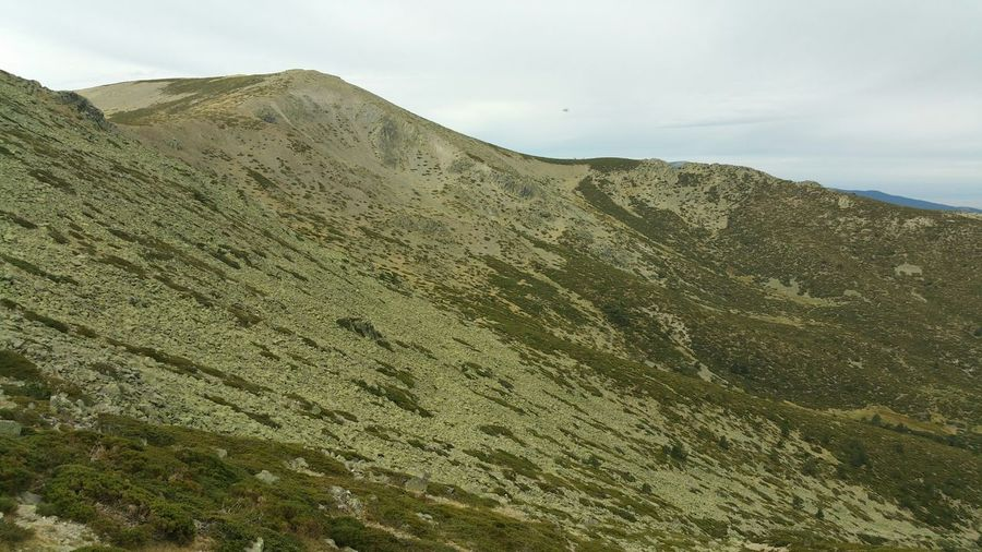 Low angle view of mountain at sierra de guadarrama