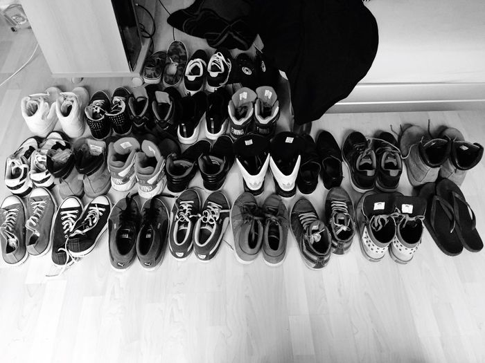 EyeEm Diversity Large Group Of Objects Variation Shoe High Angle View Choice No People Indoors  Day Close-up Shoes The addiction