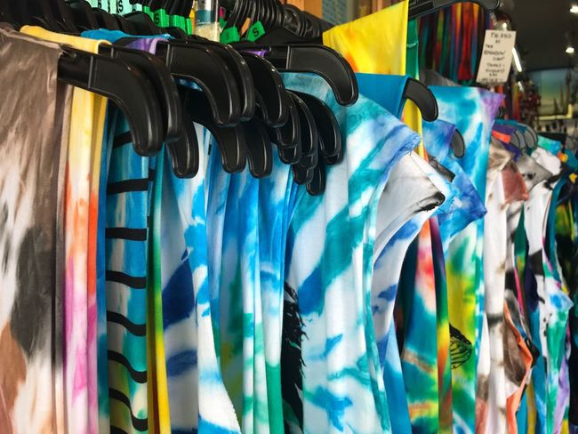 Tiedye Multi Colored Hanging Variation Close-up No People Day Outdoors Sky Clothes Large Group Of Objects Hanging Choice