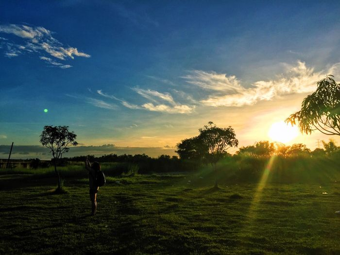 EyeEm Phillipines Photography Scenics Sunset Beauty In Nature Landscape Outdoors Real People Field Cloud - Sky One Person EyeEmNewHere EyeEmNewHere